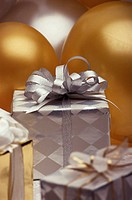 Close-up of gifts