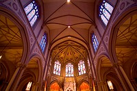 Low angle view of the interior of a church