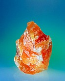 Orange-colored Calcit mineral, 160 mm. Brazil