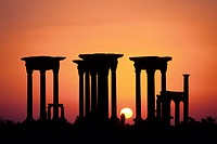 Sunrise. Tetrapylon. Palmyra. Syria.