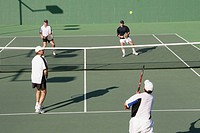Doubles. Tennis Club. Newport Beach, California. USA.