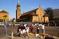 Street. Emmanuel Cathedral. Durban. KwaZulu Natal, South Africa.