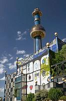 City Waste Incinerator designed by F.Hundertwasser. Alsergrund. Vienna. Austria. 2004.