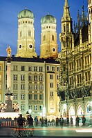 Cathedral and Marienplatz. Munich. Bavaria, Germany