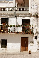 Typical house façade. Alpujarras Mountains area, Granada province. Spain