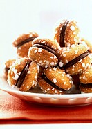 Amaretti, filled with mocha cream