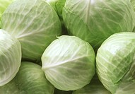 Several white cabbages (close-up)