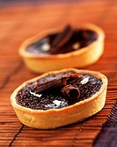 Chocolate and Touron tarts