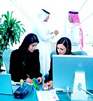 Arab businesspeople in office environment