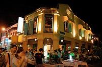 Jonker Street at night, Melaka, Malaysia