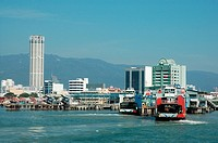 Penang ferry and waterfront, Penang, Malaysia
