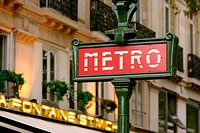 Metro sign, Paris. France