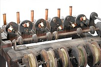 From about 1837 onwards there developed a need for circulated electrical cables, insulated by cotton or silk.  This machine was of a type that being h...