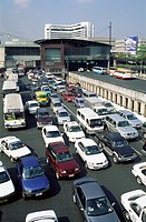 Asia, Buses, Cars, Congestion, Holiday, Landmark, Manila, Philippines, Pollution, Road, Scene, Street, Street scene, Tourism, Tr