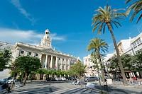 El Ayuntamiento or Town Hall. Cadiz, Costa de la Luz, Andalusia, Spain.