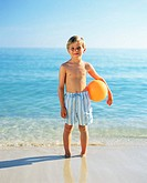 Boy with a beach ball