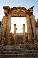 Main Entrance of the Cathedral in Jerash, Jordan