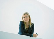 Businesswoman holding cell phone (thumbnail)