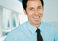 Businessman laughing portrait