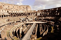 Interior of Colosseum. Rome. Italy