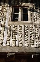 Typical façade, La Alberca. Salamanca province, Castilla-León. Spain