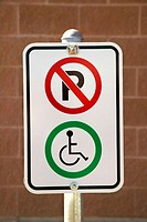 A Parking spot reserved for wheel chair users, Canada