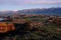 Farms, Southern Alps, Kaikoura, New Zealand