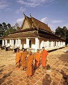 Chua Giva and his monks in Tra Vinh, Vietnam.