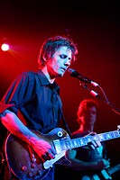 Dean Wareham, singer of the group Luna, during their last performance before disbanding. Sala Cormor&#225;n, Valencia, Spain