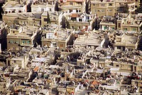 Aerial view of the rooftops of Damascus. Syria