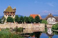 Ecomuseum. Ungersheim. Haut-Rhin. Alsace. France.