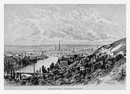 Rouen, France. Engraving from 'Le tour du monde'