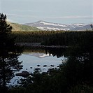 Picturesque landscape  Finnish Lapland