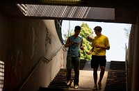 Teenage boys in underpass (thumbnail)