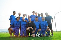 Soccer team group