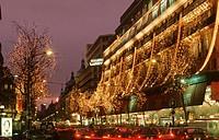 Galeries Lafayette Department Store. Boulevard Haussmann. Paris. France.