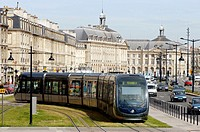 Bordeaux's tramway. France