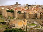 Walls and city. Avila. Spain. 2003.