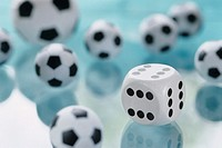 Dice and football toys