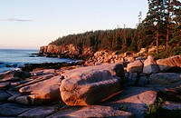 Rocks and Otter Cliffs in Acadia National Park. Maine, USA