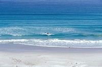 Surfer at Witsand Bay, Middle Beach near Scarborough, South Africa
