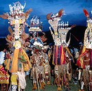 painted, 10376547, festival, decorated, group, costumes, Neuginea, Pacific, Papua, dancer