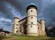 Wisnicz Castle, Poland. In 14th century the most powerful magnate in Poland Stanislaw Lubomirski build castle in Wisnicz. Castle is Baroque style fort...