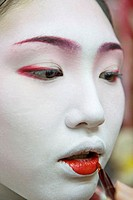 ´Maiko´ (geisha apprentice) from the Odamoto tea house (o-chaia) in Gion, Kyoto. Kansai, Japan