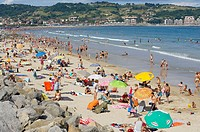 Beach, Hendaye. Aquitaine, Atlantic Pyrenees. France
