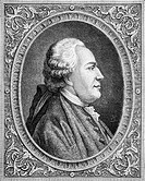 Franz Anton Mesmer, 1734-1815. Viennese psychiatrist who brought forth the theory of 'animal magnetism'. Engraved by Pannemaker-Ligny after Coffinaeu....
