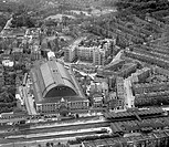 Aerial view of Olympia exhibition hall, London, June 1921.