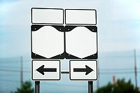 Blank highway signs
