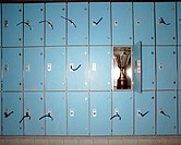 Trophy in locker