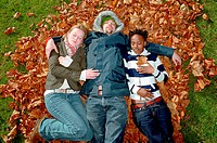 People sleeping on leaves